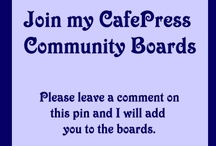 CafePress Shop Keepers Community / Come see the latest creations from CafePress designers.  Many talented artists show their beautiful and fun designs. Designs are added daily, you will love them.  CafePress Shop Keepers Community Board to share great stuff on CafePress. Please only CafePress items. This is an unofficial board created by a CafePress shop keeper.