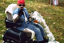 Wheelchair Halloween costumes / Many talented parents have turned wheelchairs into awesome props for Halloween costumes  Here are some ideas for you.