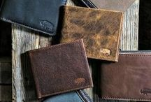 Men's Leather Wallets / Tough Men's Leather Wallets in Cow Hide and Bison Hide for the Rugged Gentleman Checkbook | Passport | BiFold | TriFold | Phone Wallets