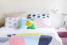 bedroom. / bedrooms, beds.