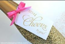new years eve ideas / New Year's party ideas -- cakes, decorations, party foods and favors.
