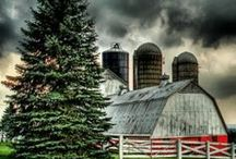 barns and outbuildings / by Ron Moyers