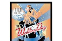 Commemorative Wedding Day Posters / Commemorate your wedding day with a poster.