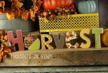 Fall Crafts and Ideas / by Thoughts in Vinyl = Wood Letters and Crafts and Vinyl Lettering