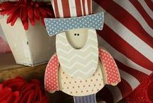 4th of July Crafts and Ideas / by Thoughts in Vinyl = Wood Letters and Crafts and Vinyl Lettering
