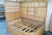 Our reclaimed & recycled furniture / Custom made furniture from old wood for the home.