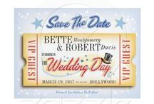 Wedding Save The Date Cards / Save The Date Cards and magnets with fun vintage and retro themes.