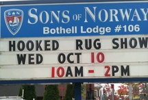 Seattle Rug Hooking Show / A very fun rug hooking show held every year the second week in October. A highlight of my year!