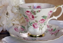 """Lyric"" Shaped Royal Albert Patterns / The Lyric Shape was very popular in the 1960s to 1980s