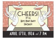 Hen Party Invitations for our UK girls / Is it time for your Hen Party? Hen Party Invitations designed in vintage style are the most fun! Customize them yourself. Shopping from the UK? Use this portal!  http://www.zazzle.co.uk/vintageweddinginvite