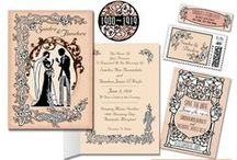 Art Nouveau Wedding Invitations / Our Art Nouveau Wedding Invitation suite with all the trimmings! A soft and lovely design for a vintage, old fashioned wedding day.