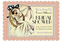 Very Vintage Bridal Shower Invitations and Inspiration / A very vintage theme from VintageWeddingInvitation.com is a very ladylike affair! It has a sweet and sassy personality, and is lots of fun as well! See the invites and matching components too!