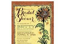 Rustic Wedding Invitations + Rustic Bridal Shower Invites / Rustic Wedding Invitations + Bridal Shower Invites Plus all the matching components for your wedding celebration.