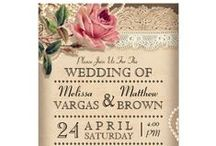Floral Wedding Invitations / A variety of our wedding Invitations and Shower Invitations that feature gorgeous floral designs!