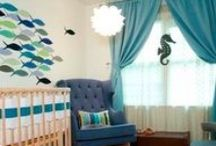 Nursery / Combining an Under the Sea theme with a Woodland theme for the little fella's nursery.