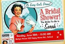 Retro Bridal Shower Invitations for the Retro Bride / A Retro Bride! Bridal Shower Invitations and all the fun matching favors, and stationery to complete the party!