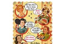 Retro Housewife Bridal Shower Invitations, Gossip! / Oh how those gals will Gossip! Retro Housewife Bridal Shower Invites and all the fun stuff to make a memorable wedding shower with a vintage vibe!