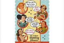 Collections of Vintage Bridal Shower Invitations / All the fun retro and vintage style Bridal Shower, Wedding shower, + couples shower invites from Vintageweddinginvitation.com