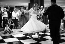 Swing Dance Wedding Ideas / Swing era themes for weddings, Rockabilly, retro and vintage ideas for wedding invitations.