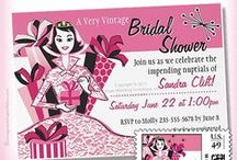 Cute Bride Wedding Shower Invitations / In stunning pink and black this invitation will set the theme for the bridal shower. Personalize with your own information to make this cute bride invitation your very own!