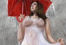 Wet Girl Posing / slimy nuru shower bath bubble greasy