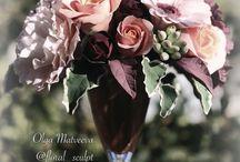 1 Цветы из глины Матвеевой Ольги / Цветы ручной работы из полимерной глины