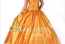 Orange Long  Dresses