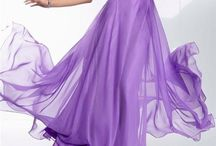 Purple Long  Dresses
