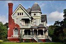 Victorian Houses, Mansions, and Cottages / This is my collection of houses I love. Some are tiny one-room houses and some are mansions. Not all are Victorian. / by Jymie Hawley