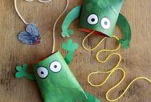 Paper Rolls / Klopapierrollen - Basteln mit Kindern / Kindern macht es total viel Spaß, Tiere und andere coole Sachen aus Klopapierrollen zu basteln!