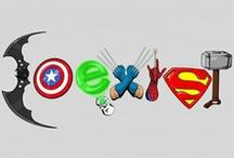 jalg - superheroes / just a little geeky 'superheroes' edition... unashamed fangirl of superhero stuff... see my other jalg editions for more geeky goodness