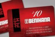 Things You can Buy with a Benihana Gift Card / For every $50 Benihana Gift Card purchased this holiday season, receive a $10 promotional card. Wondering what you could get with this awesome gift card? Here are a few ideas! Share your posts from a Benihana restaurant anywhere and tag them with #Benihana.