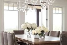 Dining Room Inspiration / For those of us that have a formal dining room, let's make it beautiful! Clean, classic & comfortable is my favorite. / by Alexis Fallon