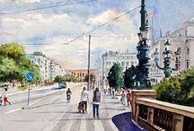 Watercolour painting / Gothenburg