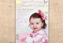 Rustic, Romantic & Shabby Invitations / Rustic, romantic, shabby chic or country style party invitations by Ian & Lola