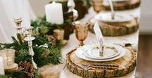 Rustic Thanksgiving Table / WavHello Holiday Mom Hacks - Inspiration for setting your Thanksgiving table. Rustic designs for hosting a beautiful and memorable holiday dinner with your family.