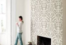 Wall Inspiration / wallcoverings and paint treatments for walls