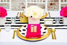 Black & White with Color Accents / by Courtney Price I Glamour Avenue Parties