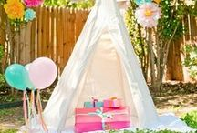 Kids Camping Themed Party