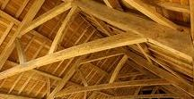 wooden roof & outdoor showers