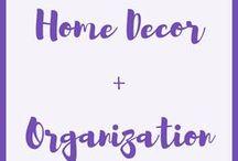 Home Decor + Organization / Home decor + organization!  Decorations, interior design, home design, decor inspiration, home organization, organization