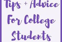 Tips + Advice for College Students / Advice and tips for students. Study tips, college advice, planning, etc.
