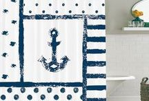 Beach, Coastal and Nautical Shower Curtains and Accessories / Beach shower curtains, Coastal shower curtains, Nautical shower curtains, Beach bathroom accessories, Coastal bathroom accessories, Nautical bathroom accessories