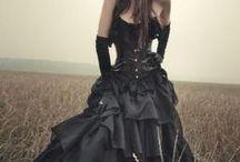 Gothic / Готика, платья, чёрный, Викторианская эпоха, Средневековье, Стимпанк