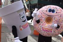 Dunkin' Cuppy & Sprinkles / Catch 'em if you can! Join our mascots Dunkin' Cuppy & Sprinkles as they make people smile at Dunkin' Donuts events. / by Dunkin' Donuts
