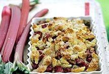 Rhubarb Recipes / by Tammy Nisco