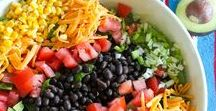 Salad Recipes & Salad Dressings | / Mostly healthy, fresh salad recipes from around the web.  Whether you're looking for green salad, pasta salad, potato salad or a fantastic salad dressing, they're all here.