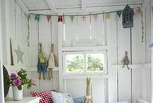 E L S A ' S :: H O U S E  / Garden play house inspiration. American and Scandinavian style decor.  / by Nina Randone :: Graphic Designer