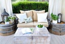 Outside: Deck/Patio Inspirations! / Outdoor living at it's finest.