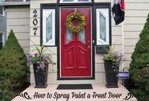 Outside: Entryway Inspirations / Create an inviting Entry into your home! / by DeDe @ Designed Decor